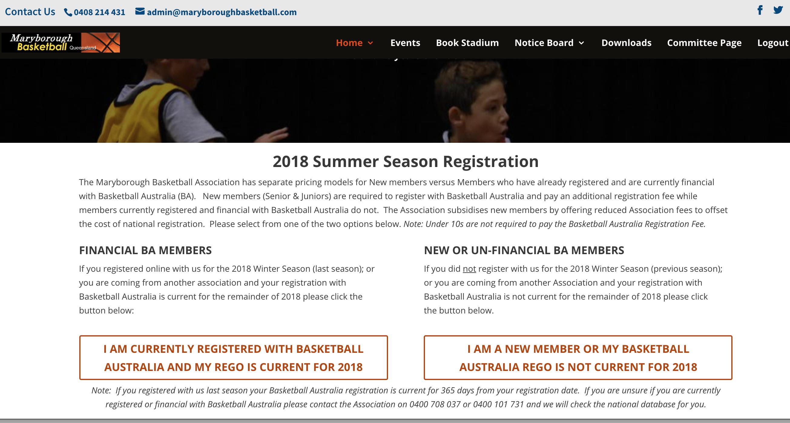 2018 Summer Season Registrations Now Open